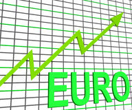 Euro Chart Graph Shows Increasing European Economy Stock Photography