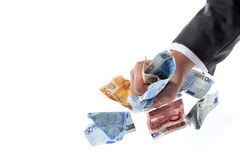 Euro chciwiec 01 Zdjęcia Stock