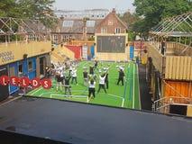 Euro 2016 cheerleaders próba w Brixton, Londyn obraz stock