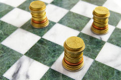 Euro chess Royalty Free Stock Photos