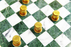 Euro chess Royalty Free Stock Image