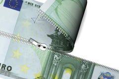 Euro chiusura lampo Immagine Stock Libera da Diritti