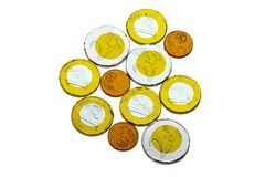 Euro chocolate coins Stock Photography