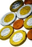 Euro chocolate coins Royalty Free Stock Photo