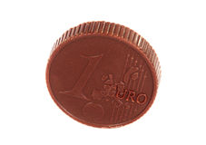 Euro chocolate isolated Royalty Free Stock Images