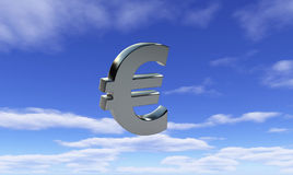Euro cielo Fotografia Stock Libera da Diritti