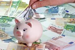 Euro cinco Fotos de Stock Royalty Free