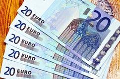 Euro cinco vinte fotografia de stock