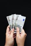 Euro cinq Photo stock