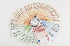 Euro Circle Wth Stopwatch Stock Photo