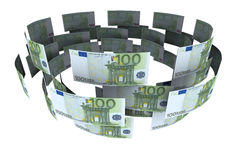Euro in circulation of money Stock Photo