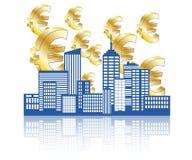 Euro città Fotografie Stock Libere da Diritti