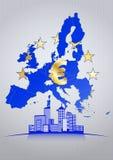 Euro città Immagini Stock