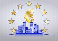 Euro città Fotografia Stock