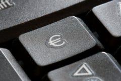 Euro clé de clavier Photos libres de droits