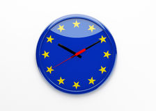 Euro Clock Royalty Free Stock Images