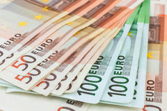 Euro close-up Stock Photos