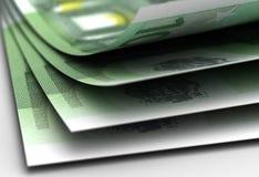 Euro closeup Stock Images