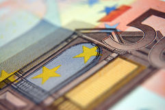 Euro Closeup Stock Images