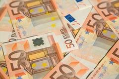 50 euro. Closeup of the 50 euro banknotes Stock Photos