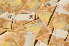 50 euro. Closeup of the 50 euro banknotes Stock Photography