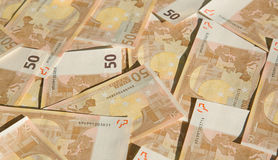 50 euro. Closeup of the 50 euro banknotes Stock Image
