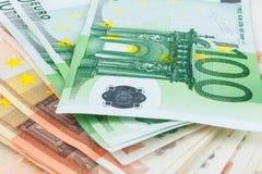 Euro closeup Stock Photography