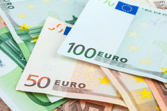 Euro closeup Royalty Free Stock Photo
