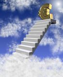 Euro in clouds Royalty Free Stock Photography