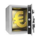 Euro coffre-fort illustration stock