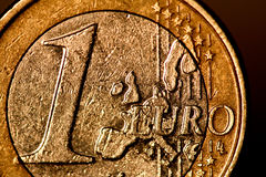 Euro coin. Close up shot Royalty Free Stock Photo