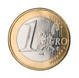 Euro coin. One euro coin isolated on white Stock Photo
