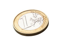 Euro coin. Isolated on white Stock Images