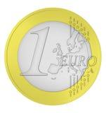 Euro coin. Illustration of a euro coin Stock Image