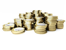 Euro coin 3d Royalty Free Stock Photos