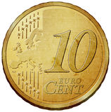 Euro coin. Ten cent euro coin illustration Stock Photos