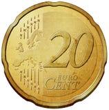 Euro coin. Twenty euro cent coin illustration vector illustration