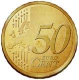 Euro coin. Fifty euro cent coin illustration vector illustration