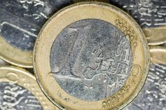 A Euro Coin stock images