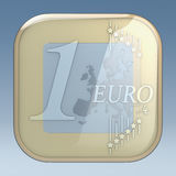 Euro coin app Royalty Free Stock Photo