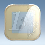 Euro coin app Royalty Free Stock Image