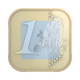 Euro coin app Royalty Free Stock Images