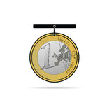Euro coin business art illustration Royalty Free Stock Image