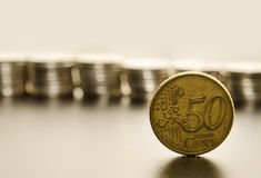 Euro coin close up Stock Photography