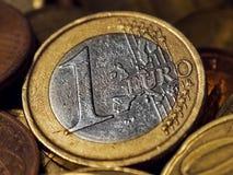 Euro. Coin, close-up shot Stock Photos
