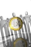 Euro coin concept Royalty Free Stock Photo