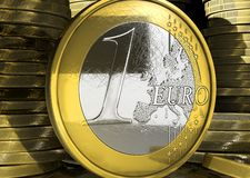 Euro coin concept Stock Images