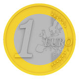 The euro coin. 3d generated picture of a euro coin isolated on white Stock Photo