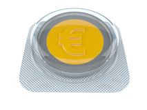 Euro coin. Isolated on white background. 3d illustration Stock Images