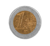 Euro coin, 1 euro, fake coin Royalty Free Stock Images
